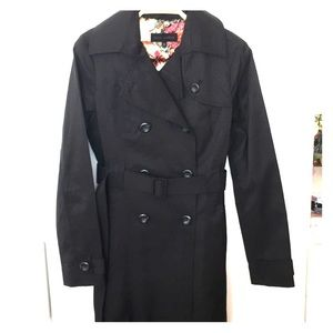 Steve Madden trench coat black